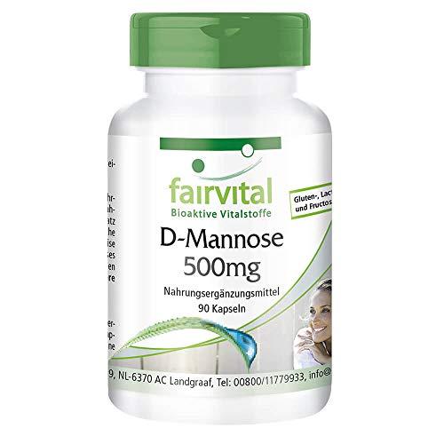 D-Manosa 500mg - Monosacárido natural - Dosis elevada - 90 Cápsulas - Calidad Alemana