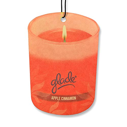 Glade Car Air Freshener 3-PACK Candle Design Glade Air Freshener (Apple Cinnamon)