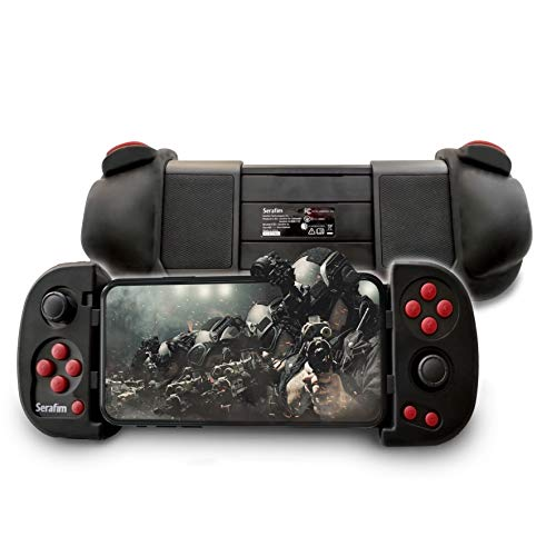 Serafim S1 Bluetooth Mobile game controller, joystick, gamepad with Macro, Turbo, Button Mapping for Nintendo Switch, PC, Android, Steam, Bluestacks, Epic games, Nox, Stadia, Windows and Geforce NOW