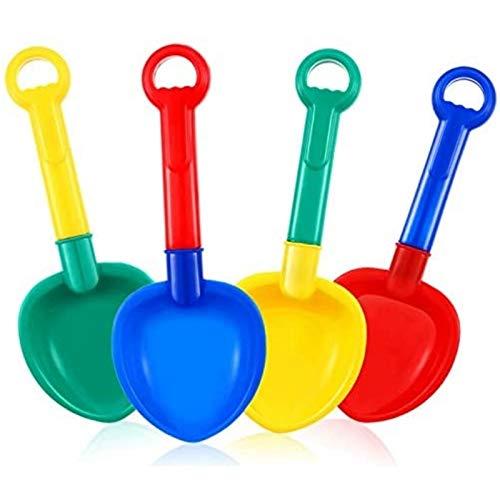 Pala pequeña 4 piezas de plástico de arena pala de playa de arena de juguete colorido palas para playa y arena de verano suministros al aire libre pequeña pala