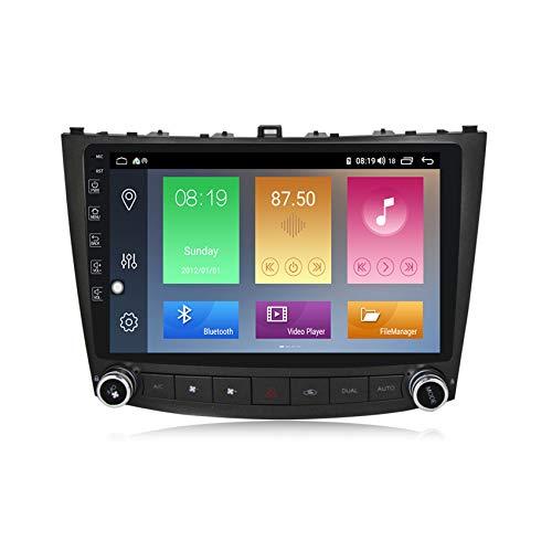 ADMLZQQ Android 10 GPS Navigation Car Stereo Radio,para Lexus lS250 2005-2013 HD Pantalla Táctil FM Enlace Espejo Controles del Volante Carplay Integrado+DSP(M300/M500/M600),M300 3+32g