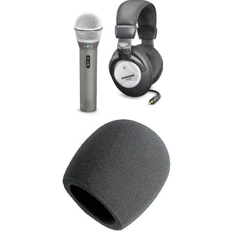 Samson Q2U Microphone with Headphones and Windscreen