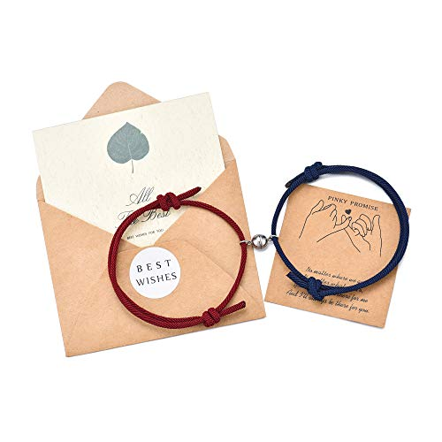 PPJew Couples Bracelets Magnetic Mutual Attraction Matching Friendship Bracelet Set Gift for Women Men Lover Boyfriend Girlfriend Her Him Best Friend Bff