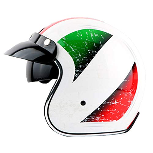 LJP Roller Helm Fahrrad ECE DOT Zertifiziert Abnehmbare Retro Männer Und Frauen Vier Jahreszeiten Outdoor Sports Cruiser Unisex(Color:Italien,Size:XXL)