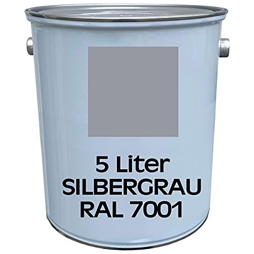5 Liter Premium Garagenbodenbeschichtung   Hallenbodenbeschichtung   Bodenfarbe   Bodenbeschichtung   befahrbar   abriebsfest   RAL 7001   Silbergrau   made by Wilckens