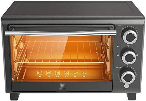 Wghz Tragbarer Tischofen elektrisch mit 60-Minuten-Timer und gleichmäßiger Erwärmung der oberen und unteren Rohre, einschließlich Grillnetzen Backbleche Tabletthalter Grau 16L