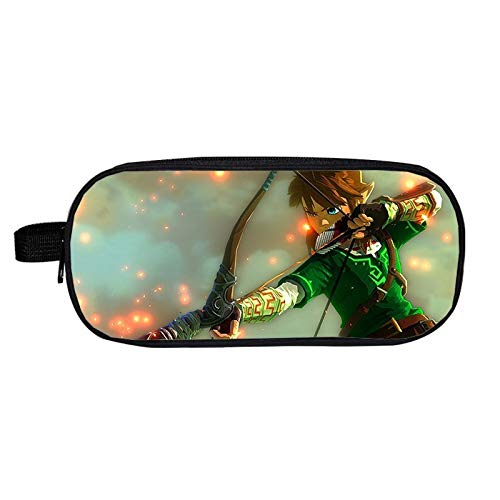 YangQian Zelda Pen Bag Legend Of Zelda The capacity Double-layer Pen Bag Stationery Bag Make-up Bag Storage Bag.