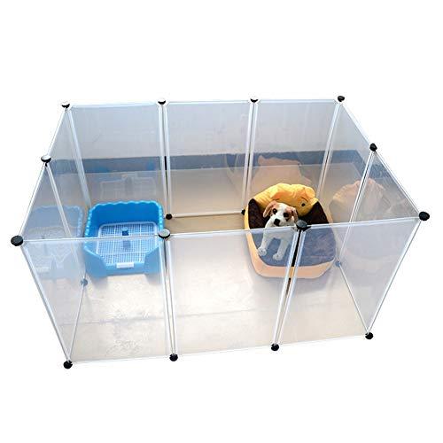Xiao Tian Pet Box, per Conigli/Guineas/Cani e Gatti Fai da Te Box Pieghevole, Whelping con Tray Puppy Play (Size : 45 * 35cm)