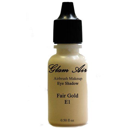 Large Bottle Glam Air Airbrush E1 Fair Gold Eye Shadow Water-based Makeup 0.50oz by GLAM AIR INC.