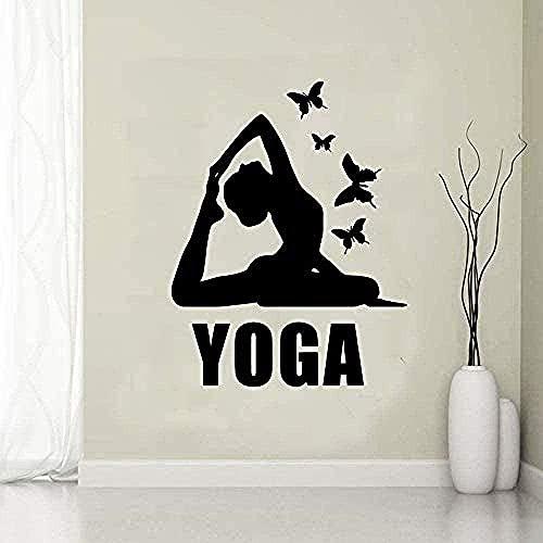Pegatinas De Pared De Yoga Diseño Creativo Diseño De Jardín De Infantes Decoración Familiar Decoración Familiar Pegatinas De Pared 30X38Cm A 43X55Cm Verde