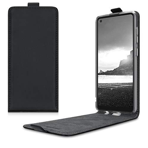 kwmobile Hülle kompatibel mit Samsung Galaxy A21s - Handy Case Handyhülle - Flip Schutzhülle in Schwarz
