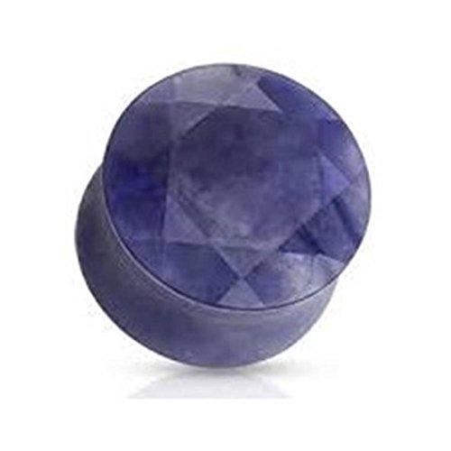 Coolbodyart dilatadas plug Organic piedra natural azul violeta facetas 5 mm - 16 mm