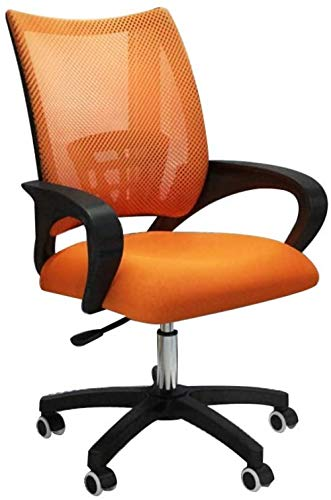 Gaming Chair,Racing Style,Executive Chair,Office Computer Desk Chair,Swivel Computer Chair Adjustable Chair Fixed Armrest Lift Ergonomics Chair-Orange