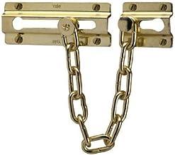 Yale P-1037-PB deurketting, 15cm kettinglengte, gepolijst messing afwerking, standaard veiligheid, Visi Packed, geschikt v...