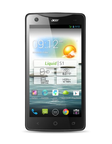 Acer Liquid S1 Smartphone (14,5 cm (5,7 Zoll) Touchscreen, 1,5GHz, 1GB RAM, 8 Megapixel Kamera, Dual-SIM, Android 4.2) christmas edition schwarz/rot