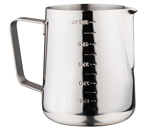 Luxpresso Milchkännchen/Messkanne/Messbecher mit Skala aus Edelstahl, 550 ml