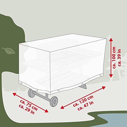 41C7QbR2W3L - Ultranatura Gewebe-Schutzhülle Sylt für den Gartengrill, Grillschutzhülle, BBQ Abdeckhaube, Wetterschutzhülle für Gasgrill oder Smoker, BBQ-Abdeckung in, rechteckig, 120 x 75 x 100 cm