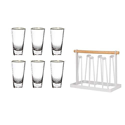 Sektgläser Beiläufig 450ml Bierglas 6-stück Mit Becherhalter Champagner Glas Cocktail Glas Rotwein Glas Wasser Tasse Kristall Glas Haushalt Lostgaming (Color : B)
