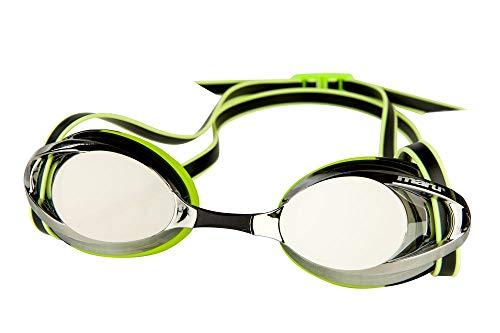 maru AG5620 Schwimmbrille, Silber/Lime/Schwarz, Einheitsgröße