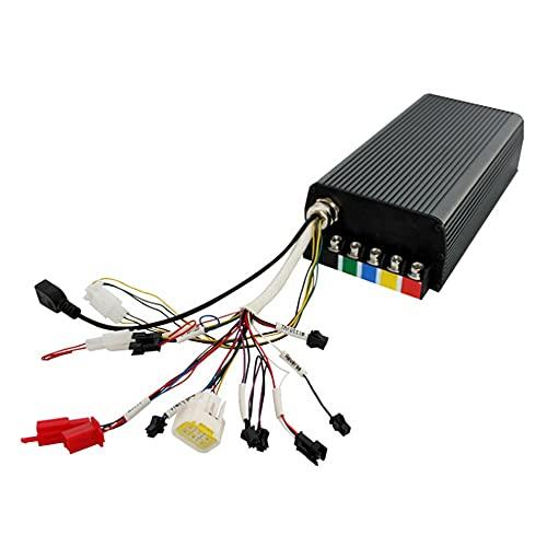 Angelay-Tian Controlador E-Bike, Controlador de Onda sinusoidal eléctrica de 48V / 60V / 72V 24 MOSFET 100 Un Controlador de Onda sinusoidal programable programable Inteligente y Pantalla Colorida de