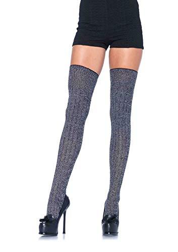Leg Avenue Damen Rib Knit Strumpfhose, grau, One Size