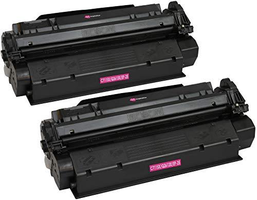2 INK INSPIRATION® Tóners compatibles para HP Laserjet 1000 1005 1200 1220 1300 3080 3300 3310 3320 3330 3380 Canon LBP-1210 LBP-558 | Reemplazo para HP C7115X & Q2613X & Canon EP-25 | 3500 páginas