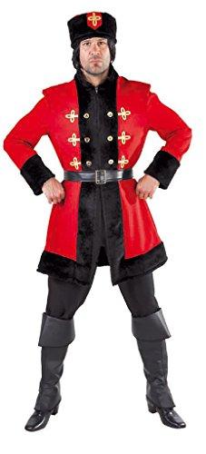 M215211-XXL rot-schwarz Herren Kosakenkostüm Kosakenuniform Gr.XXL