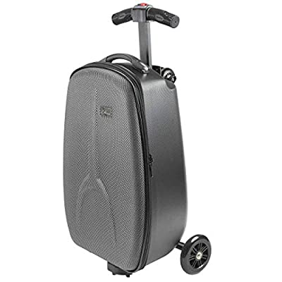 Penn trolley travel adults luggage wheeled suitcase bag scooter black