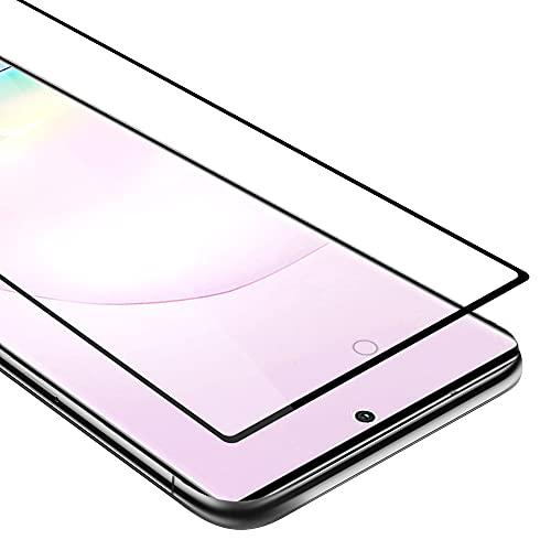 Cadorabo Película Protectora para Samsung Galaxy NOTE 20 PLUS en TRANSPARENTE con NEGRO - Pantalla de Vidrio Templado Cobertura Completa (Tempered) Compatible 3D con Dureza 9H