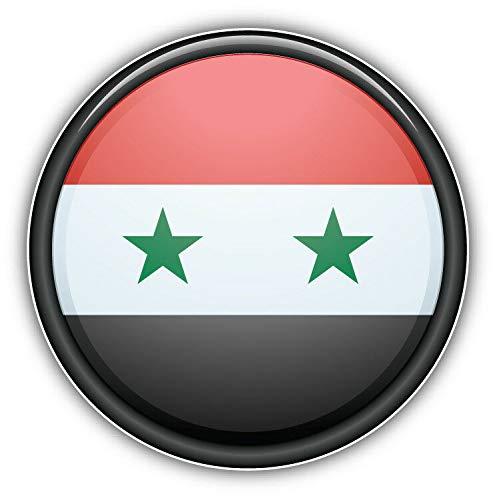 Tiukiu Syrische Weltflagge glänzend Emblem Vinyl-Aufkleber für Laptop, Kühlschrank, Gitarre, Auto, Motorrad, Helm, Werkzeugkasten, Koffer, Koffer, 10,2 cm breit, Vinyl, multi, 10 Inch In Width