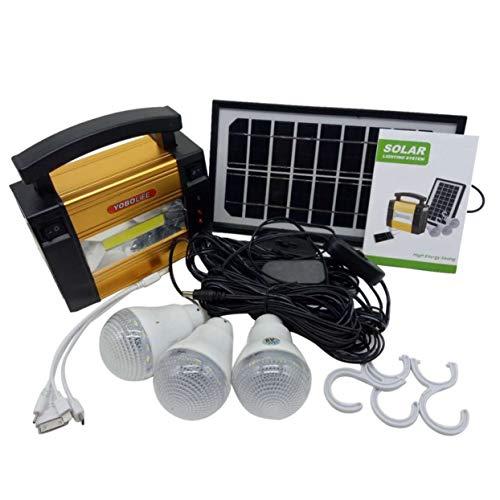 Tellaboull for Generador de energía de Almacenamiento de Panel Solar portátil para el hogar Sistema de energía eléctrica para Acampar al Aire Libre en el hogar para Bombillas LED
