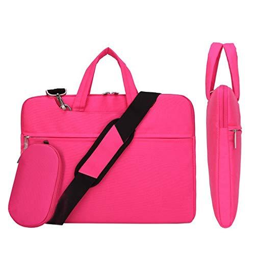 Laptop Sleeve, Cunliwaa Slim Laptop Case Shoulder Messenger Bag for Ultrabook Tablet Notebook Briefcase Carrying Bag Pink Size: 11.6 Inch