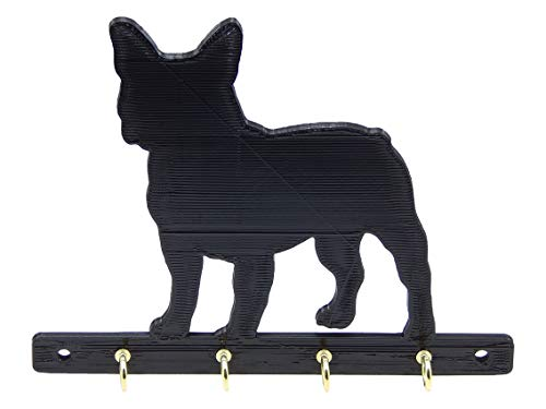 French Bulldog Dog Leash or Key Rack Holder Hanger Hooks Organizer