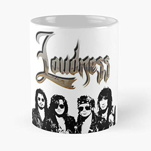 Rock Heavy Metal Akira 80S Japan Takasaki Loudness Taza de café con Leche 11 oz