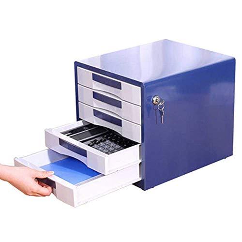 Z-LIANG Gabinetes de escritorio La presentación del gabinete del cajón 5-cajón archivador de oficina Archivo de documentos del cajón del gabinete Box (Color: azul, tamaño: 35x30x30.8cm) Oficina en cas