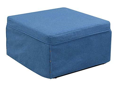 Convenience Concepts Designs4Comfort Folding Bed Ottoman, Soft Blue Fabric