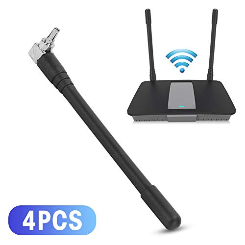 Tonysa 4-teilige drahtlose Routing-Antenne, 3dBi Dualband-Rundstrahlantenne Großbereich CRC9 rechtwinklig 3G/4G LTE E353 E3131 EC315 E3276 Externe kleine Antenne für Router