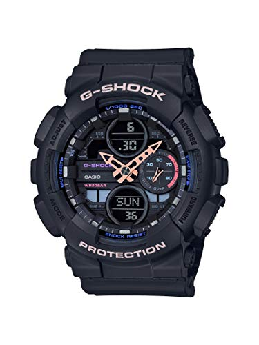 CASIO Unisex Erwachsene Analog – Digital Quarz Uhr mit Resin Armband GMA-S140-1AER