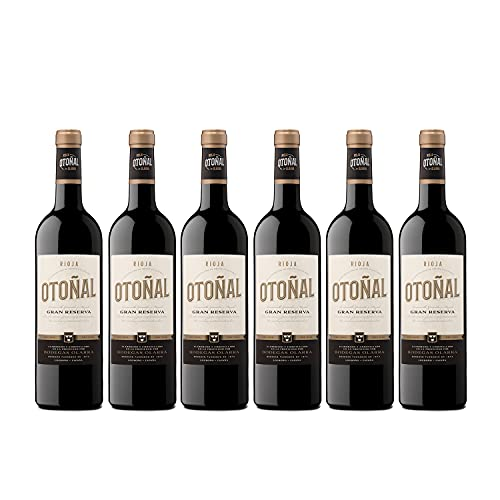 Otoñal - Vino Tinto Gran Reserva, DOCa La Rioja, Vino de Tradición de Bodegas Olarra, Pack de 6 Botellas de 750 ml