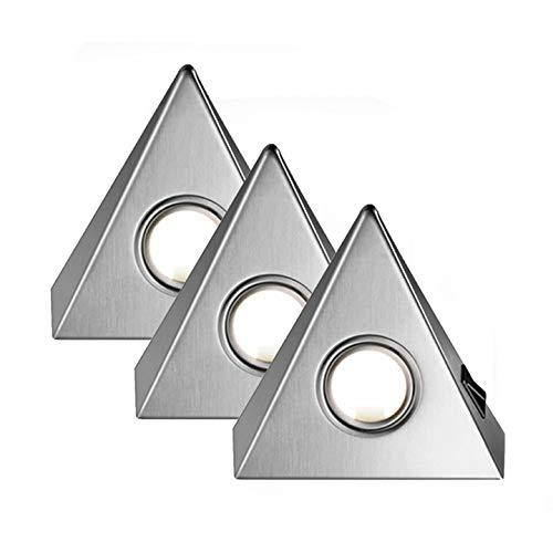 """Delta MAXI 3er Set LED edelstahl mit Zentralschalter\""""Made in Germany\"""" [55673082]"""