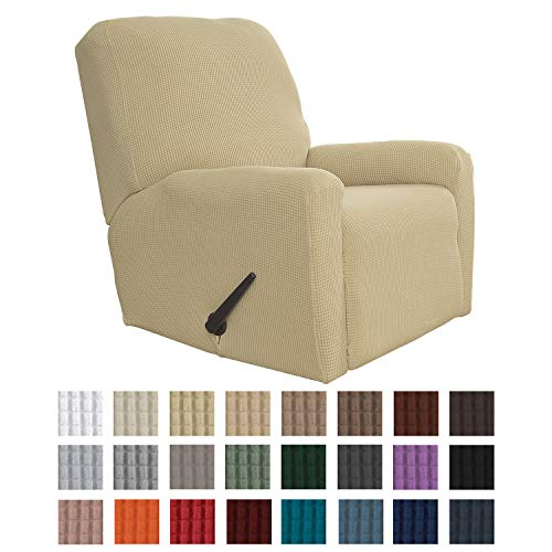 Easy-Going Recliner Stretch Sofa Slipcover Sofa Cover 4-Pieces Furniture Protector Couch Soft with...