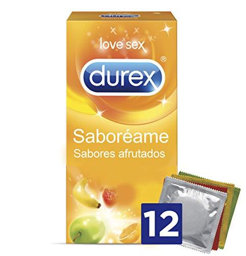 Durex Preservativos Saboreame con Sabores Afrutados - 12 Condones
