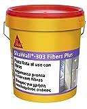 SikaWall 303 Fibers Plus Masilla acrílica lista para usar fibra de vidrio, Blanco, 5 kg