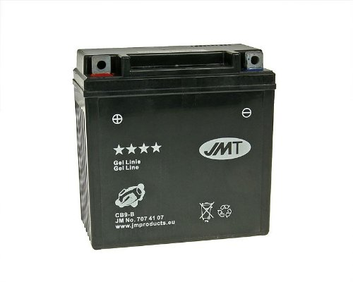 Batterie JMT Gel JMB9-B / 12N9-4B1 / 12N9-BS für Aprilia SR 50 LC Ditech Sport Bj. 2004 - inkl. 7,50 EUR Batteriepfand