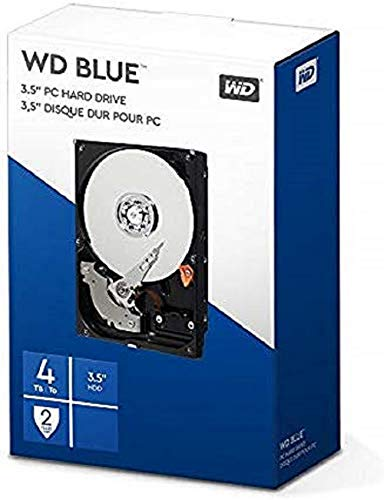 "WD BLUE 3.5"" Disco Rigido Interno - Classe de 5400 RPM, SATA 6 Gb/s, 64 MB Cache, 4 TB"