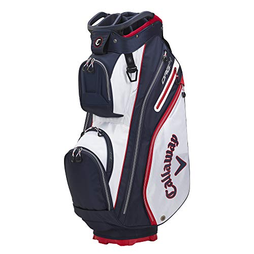 Callaway Golf 2021 ORG 14 Cart Bag , WHITE/NAVY/RED