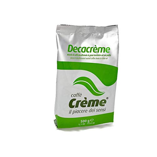 "Caffé Créme Marke - Italienische Entkoffeinierte Kaffeebohnen \""Decacréme\"" 500 gr"