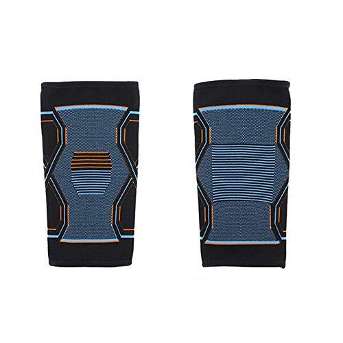 QINX 1 rodillera de compresión para entrenamiento de rodilla, para juanetes, para correr, ciclismo, baloncesto, para adultos, L, azul y naranja