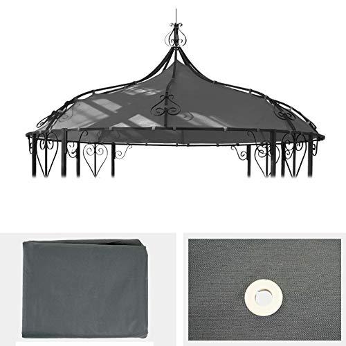 Mendler Ersatzbezug für Dach Pergola Pavillon Almeria Ø 3m ~ grau