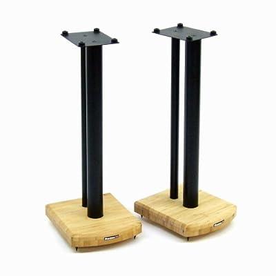 Atacama Moseco 6 Speaker Stands (Black Stands, Natural Bamboo Base) by ATACAMA
